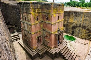 Church of St. George, one of eleven monolithic churches in Lalibela
