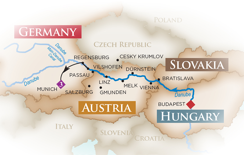 Danube River Cruise  Melodies of the Danube Cruise and Tour
