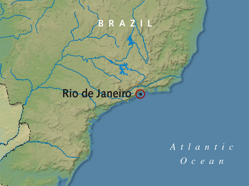 Itinerary map of Classic Rio