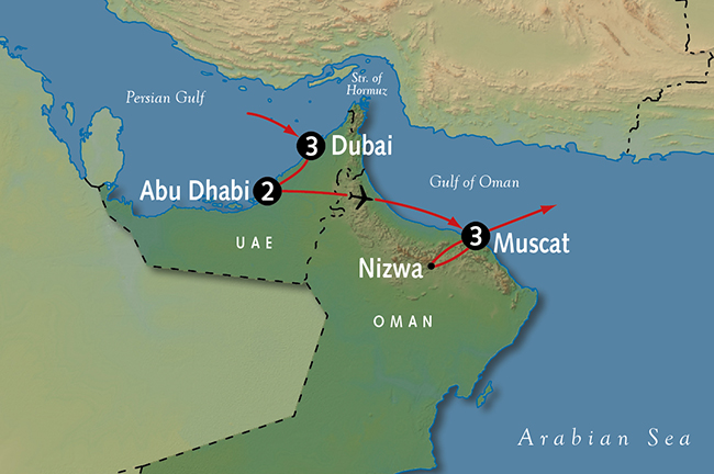 Dubai Vacation Oman Tours – Map of Oman and Uae