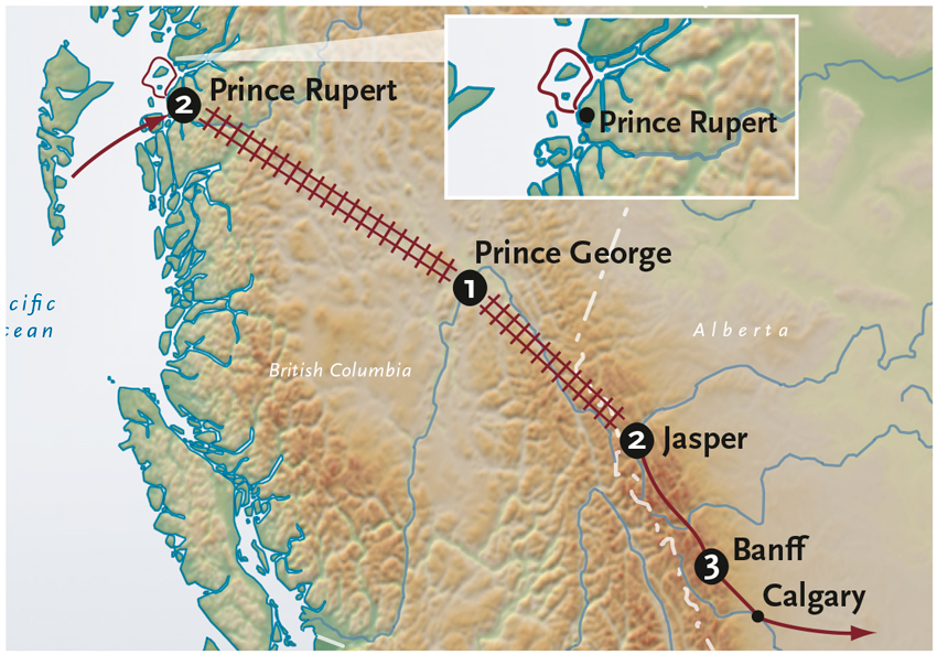Prince George Canada Map.Canada Tours Land Water Rail Alexander Roberts