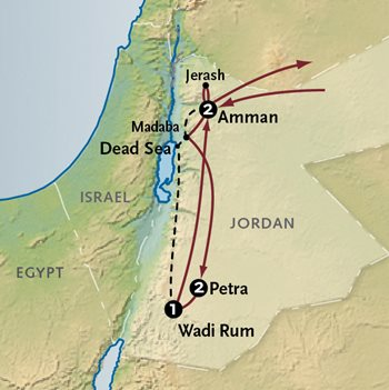 Jordan Petra Tour Map