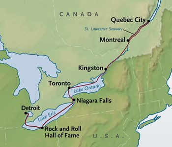 Quebec City Cruise Map