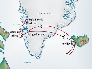 Greenland Cruise Map