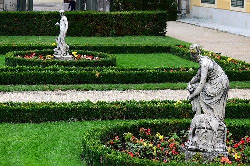 Statuary in the garden of Schonbrunn Palace, Vienna, Austria