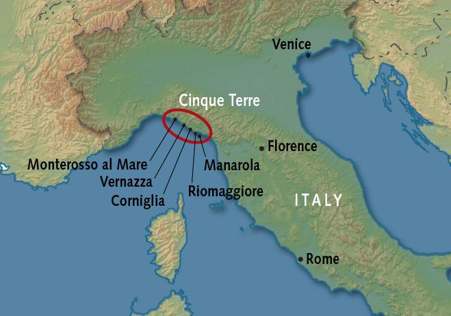 Cinque Terre Tours Walking Alexander Roberts: Monterosso Italy Map At Slyspyder.com