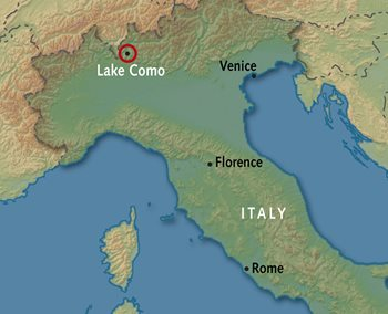 map of italy showing lake como Lake Como Tours Alexander Roberts map of italy showing lake como