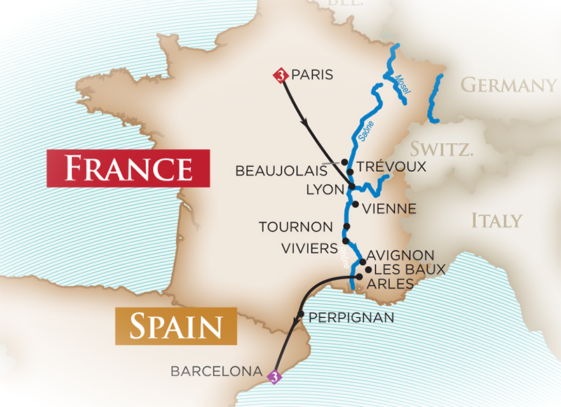 Provence and Spain - Cruise Only