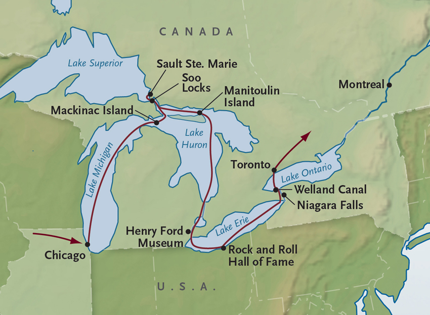 Americas Great Lakes AlexanderRoberts Pavlus Travel - Us map with great lakes