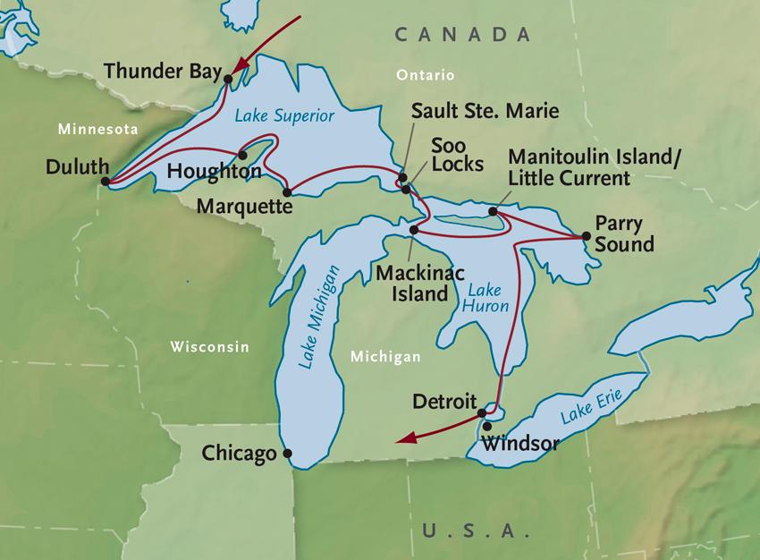 Great Lakes Cruise Lake Superior Cruise Thunder Bay to Detroit