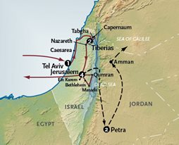 Holy Land tour map
