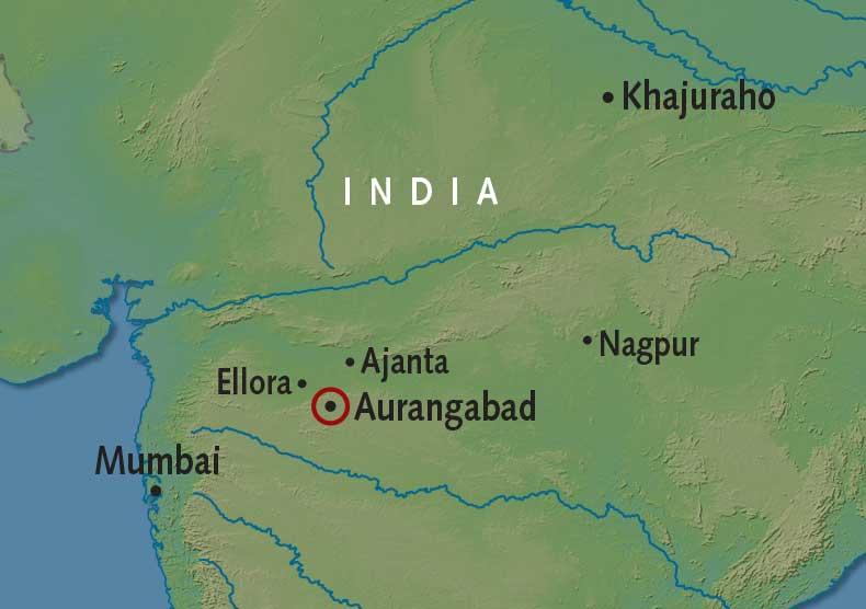 Itinerary map of Aurangabad
