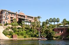 The Old Cataract Hotel overlooking the Nile in Aswan, Egypt