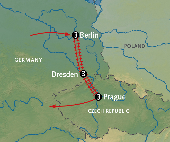 how to get from amsterdam to prague by train