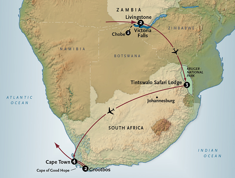 Get South Africa Vacation Journey Africa Map