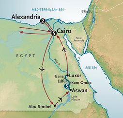 Nile River Cruise Map