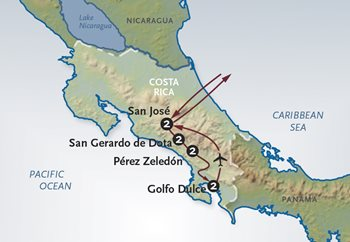 Costa Rica Tours Map