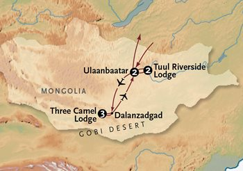 Gobi Desert Tour Map