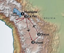 Bolivia Adventure Tours Map