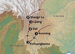 Shangri-La Tour Map