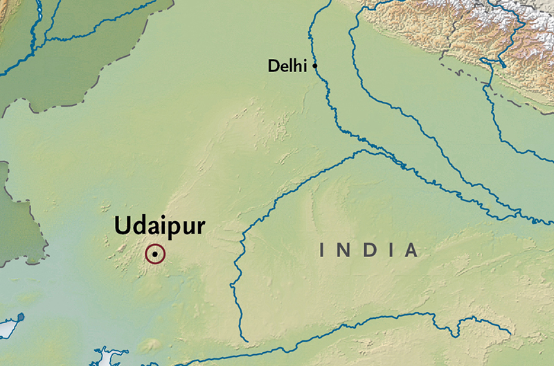 Itinerary map of Udaipur