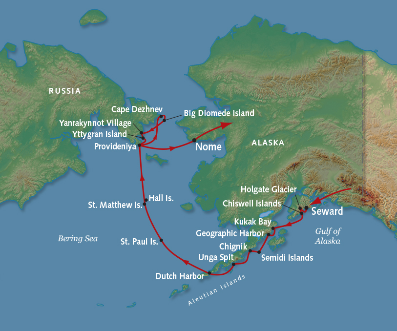 Alaskan Expedition Cruise and Tour Along the Bering Sea on