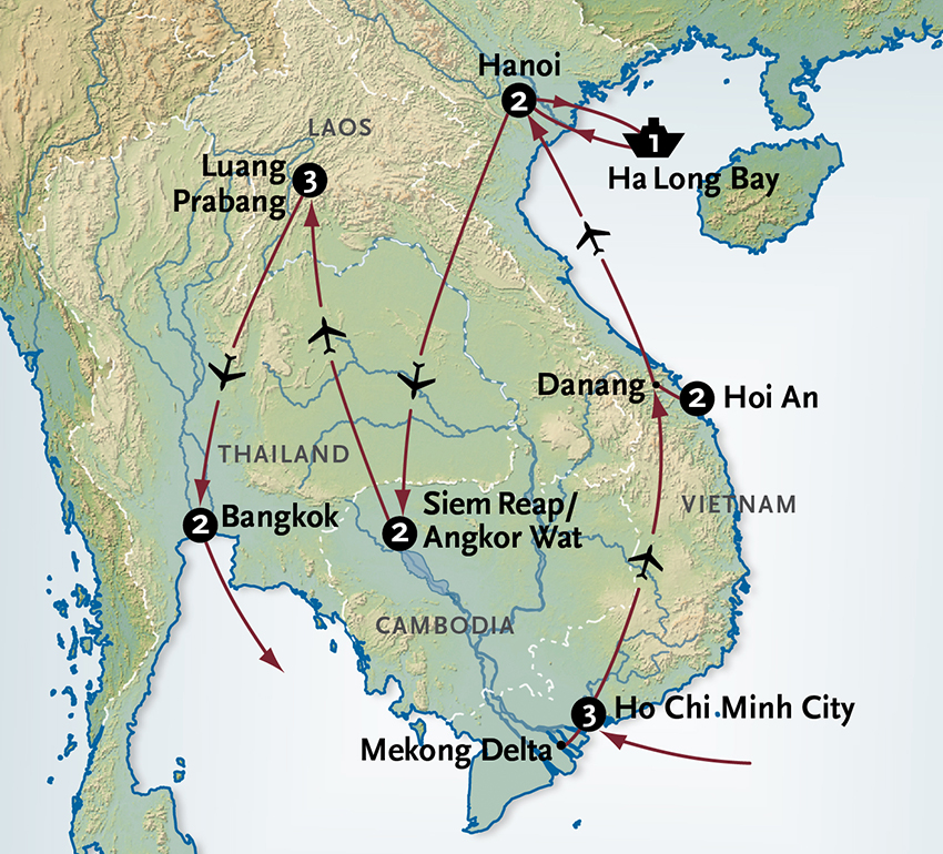 Southeast Asia Vacation Visions of Vietnam Cambodia Laos Thailand