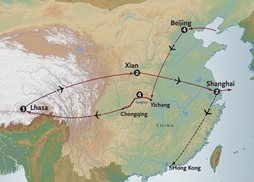 China Group Tour Map