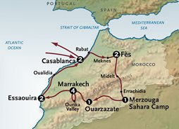 Morocco Tours Map