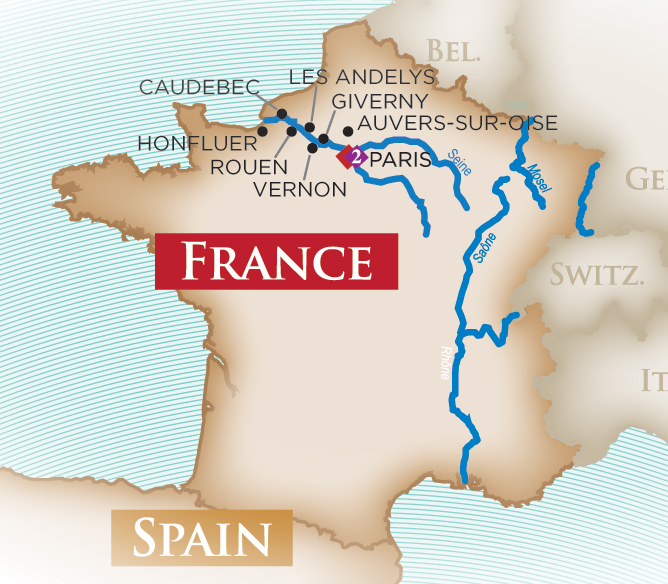 Paris and Normandy - Cruise Only